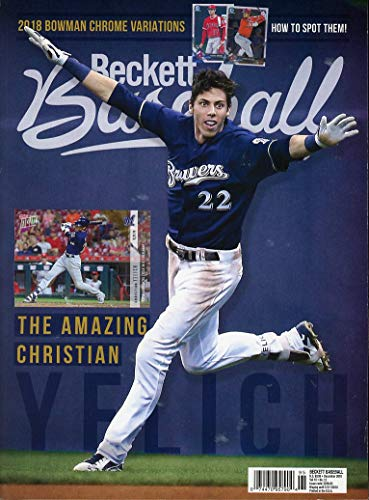 Beckett Baseball Card Monthly Price Guide Value Mag Dec 2018 Christian Yelich