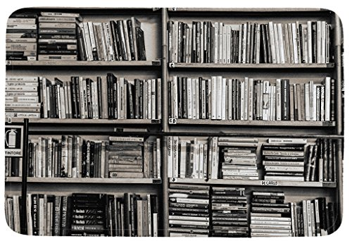 Art Abstract,Library Books Shelf Indoor/Kitchen/Bathroom Mats Rubber Non Slip Door Mats 18