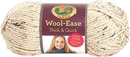 Lion Brand Yarn 641-123 Wool-Ease Thick & Quick Bonus Bundle Yarn, Oatmeal