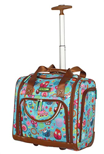 Lily Bloom Under the Seat Design Pattern Carry on Bag With Wheels (One Size, Owls Always Love You) ()