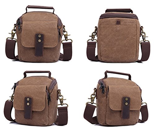 Sucastle Retro Tasche lässig Tasche Schultertasche Messenger Bag Tragetasche Sucastle Farbe: Braun Größe: 19x15x10cm