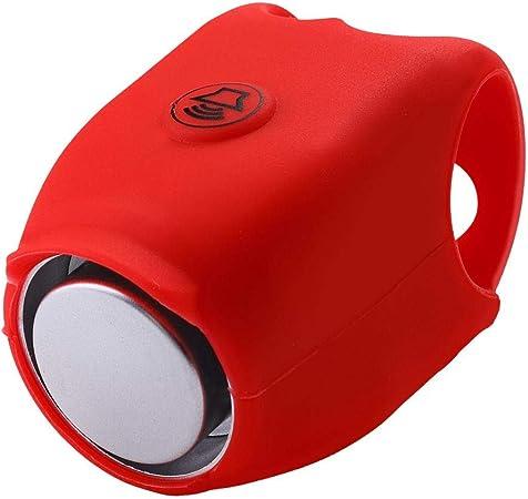 Campanello Elettrico per Bicicletta Allarme Manubrio 120 Db per Ciclismo All'aperto Accessori per Bici Suono Sicuro (Rosso)