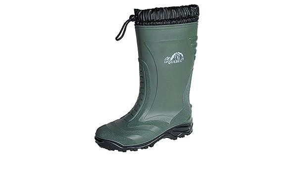 Logica - Quebec: botas de nieve de goma verde, capa térmica interior impermeable, protegen del frío, para ir de pesca, caza, usar en el jardín, en la obra, ...