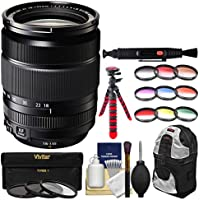 Fujifilm 18-135mm f/3.5-5.6 XF R LM OIS WR Zoom Lens with 3 UV/CPL/ND8 & 9 Colored Filters + Backpack + Tripod + Kit