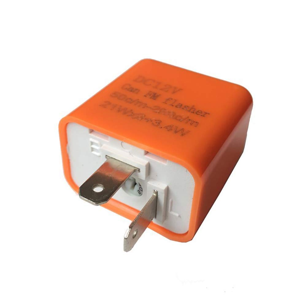 Fincos LED Turn Signal Electronic Flasher Relay Control Relay 2-Pin DC12V Can FM Flasher 50 Times//min to 200 Times//min