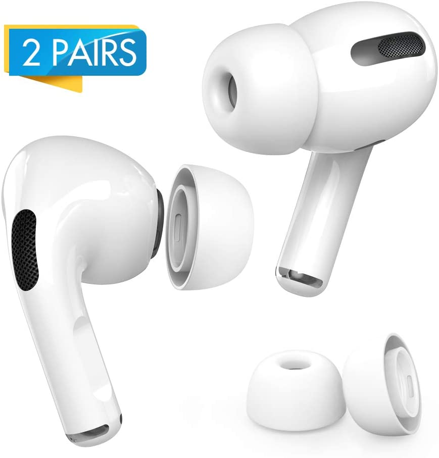 FRTMA Replacement Ear Tips//Silicone Earbuds Covers Compatible with AirPods Pro 2019 Wireless Ear Phones Medium 1 Pair Ear Piece Transparent Blue