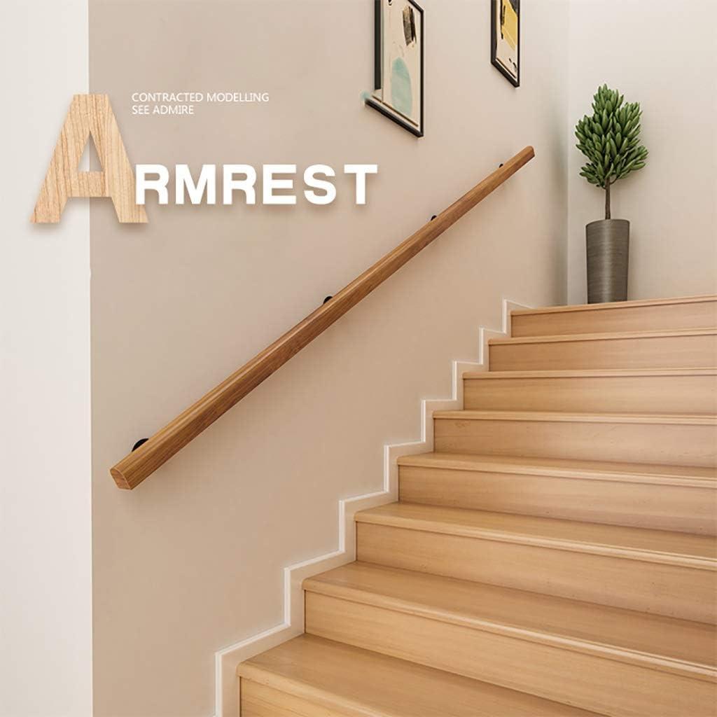 Pasamanos Sólido barandilla pasamanos de la escalera de madera, pasamanos de la escalera contra la pared pasamanos de escaleras, pasamanos pared, pasamanos de la escalera, los niños interiores y exter: Amazon.es: Hogar
