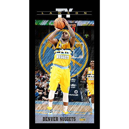 (Ty Lawson Denver Nuggets Player Profile Wall Art 9.5x19 Framed Photo)