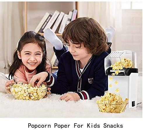 DDL Maker ménage Hot Air Popcorn, 800W Machine Popcorn avec Amovible Gris Couverture, Maker Collations pour Film Nuits Fêtes d'enfants (Rouge)