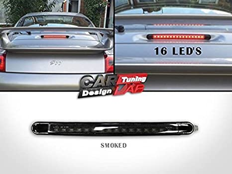 (1) negro de humo trasera LED rojo Tercer tercera parada luz de freno Lámpara para 911 996: Amazon.es: Coche y moto