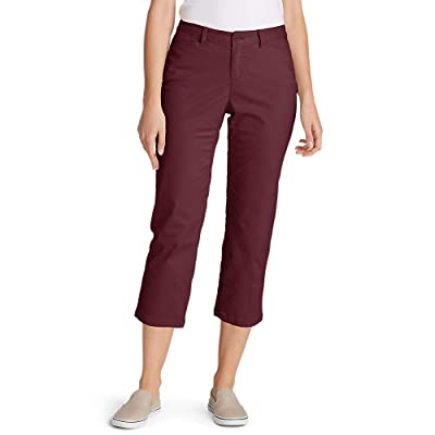 Eddie Bauer Women's Stretch Legend Wash Cropped Pants - Curvy Fit at Women's Clothing store