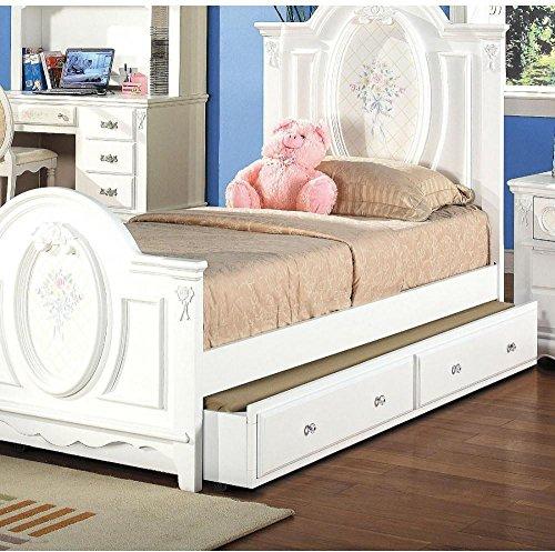 Bedroom Girls Sets Furniture (ACME 01683 Flora Trundle, White Finish)