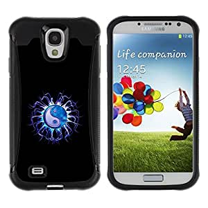 LASTONE PHONE CASE / Suave Silicona Caso Carcasa de Caucho Funda para Samsung Galaxy S4 I9500 / Yin Yang Electric