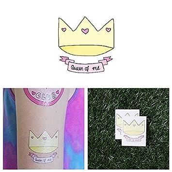 Tatuaje Temporal Tattify - Corona - Reina (Juego de 2): Amazon.es ...