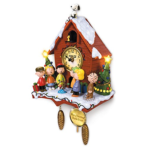 a charlie brown christmas sculptural cuckoo clock with. Black Bedroom Furniture Sets. Home Design Ideas