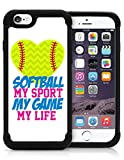 iphone 6 protective case softball - Softball My Game My Life Quote Teen Girls iPhone 6 PLUS iPhone 6s PLUS Case Cover Protective HYBRID Bumper Case with Drop Protection Dual Layer