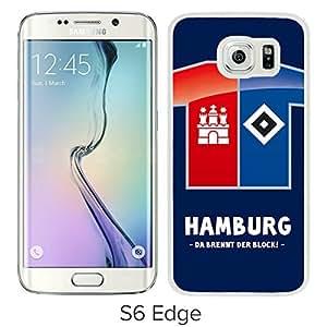 New Fashion Custom Designed Skin Case For Samsung Galaxy S6 Edge With Hamburger White Phone Case 1