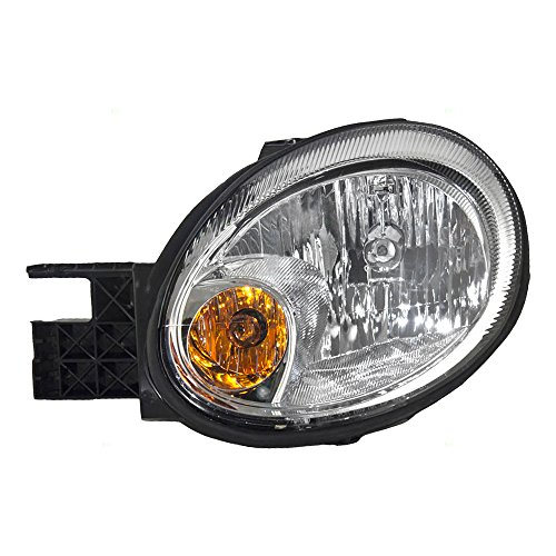 Drivers Headlight Headlamp Lens with Chrome Bezel Replacement for Dodge Neon 5303551AI AutoAndArt