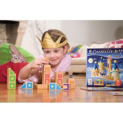 SmartGames Camelot Jr. Wooden Cognitive Skill-Building Puzzle Game featuring 48 Playful Challenges for Ages 4+: Toys & Games