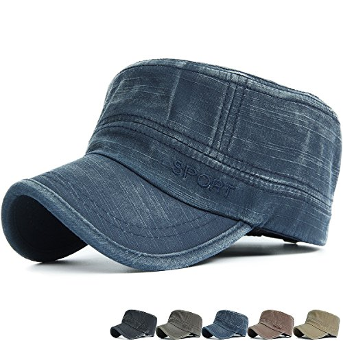 REDSHARKS Washed Cotton Cadet Cap Military Army Hat Various Style Sport Embroidered Navy