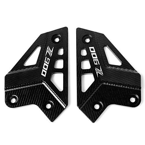 Motorcycle CNC Aluminum Foot Peg Protector Heel Protective Cover Guard for Kawasaki Z900 2017 2018 2019(Black)