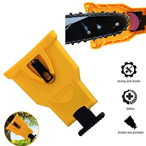 Chainsaw Sharpener, Teeth Sharpener Work Sharp Chain Saw Sharpener Kit Chain Saw Blade Sharpener for 14″ 16″ 18″ 20″ Two Hole Chain Saw Bar