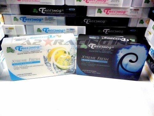 (Treefrog Xtreme Fresh Black + Marine Squash x10pcs Natural Japanese Air Freshener for Auto/Home/Office)