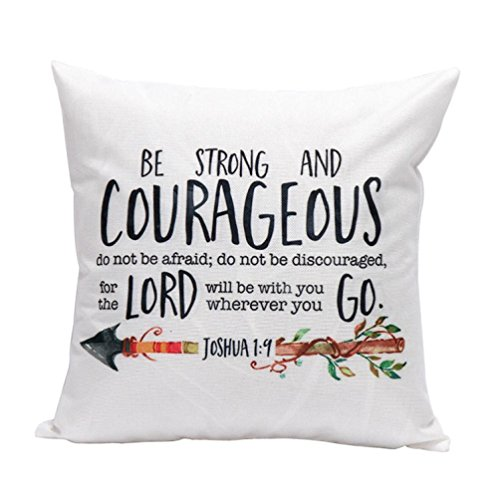 Kimloog Quote and Arrow Linen Home Office Decorative Pillowcase Throw Pillow Cushion Covers 18 x 18 Inch (A)