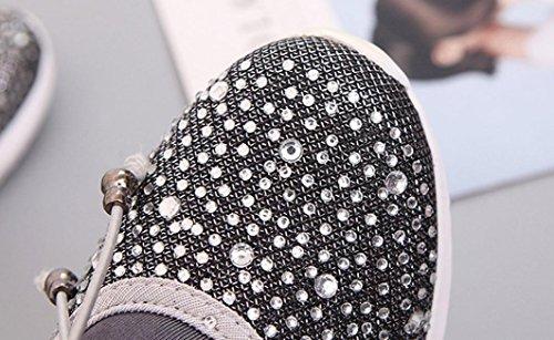 Scarpe Traspiranti Sneakers Unisex Mesh Running Argento Sport Casual Huichang nqf4ESwX0f
