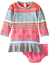 Baby Girls Stripe and Dot Sweater Dress and Panty