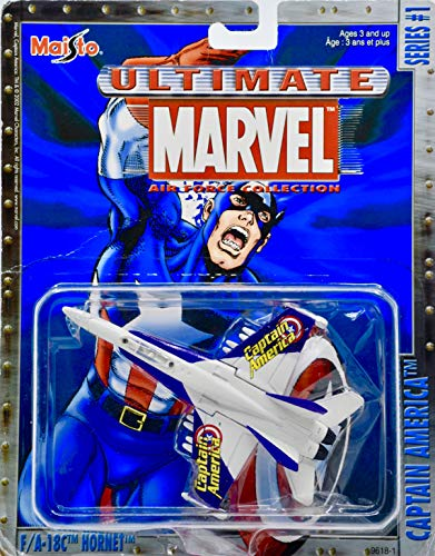 2002 - Ultimate Marvel Air Force Collection - Series #1 - Captain America - F/A-18C Hornet Die Cast Jet - Collectible - Rare