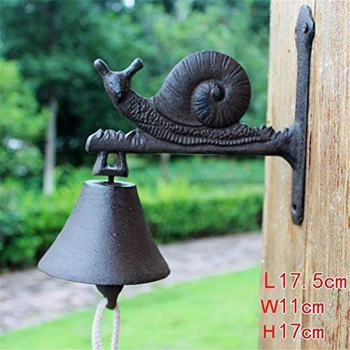 [해외]Antique Metal Doorbell Rustic Cast Iron Cute Snail Door Bell Animal Decorative Vintage Antique Farmhouse Style Decoration Wellcom Ring For Outside House17.5x11x17cm ( Color : C1  Size : As shown ) / Antique Metal Doorbell Rustic Ca...