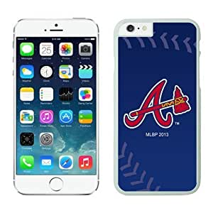 DIY unique Case Team Baseball Atlanta Braves for iPhone 6 Cases White with 4.7 inch Kimberly Kurzendoerfer