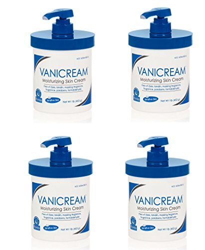 Vanicream Moisturizing Skin Cream with pump for sensitive skin can be used for eczema, psoriasis, ichthyosis, and itch free of dye, fragrance, and preservatives 16 oz vlseto, 4 Pack by Vanicream