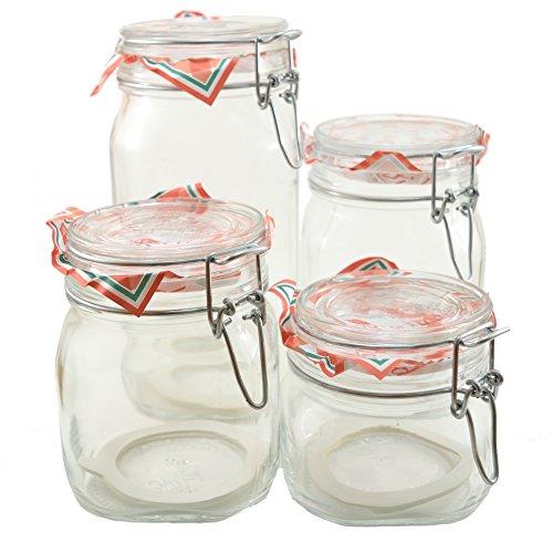 Glass Canning Canister Jars Bormioli