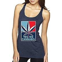 Yes We Cannabis   Poster Parody   Womens Weed Premium Tri-Blend Racerback Tank Top