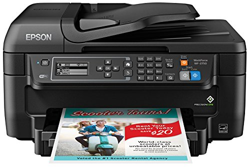 Epson WF-2750 All-in-One Wireless Color Printer with Scanner, Copier & Fax, Amazon Dash Replenishment Enabled ()