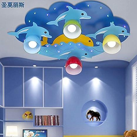 JJ LED moderno mundo marino lámpara de techo lámpara de ...