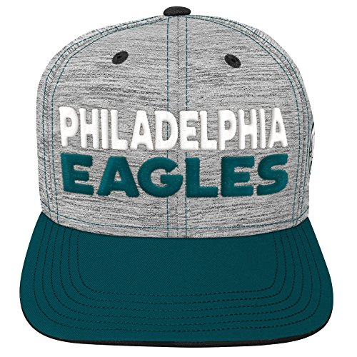 Outerstuff NFL NFL Philadelphia Eagles Youth Boys Space Dye Snapback Hat Heather Grey, Youth One Size