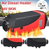 Air Diesel Heater 24V Parking Heater LCD Display 5KW for Trucks Boat Car Trailer (Red)