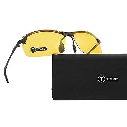 TERAISE Gafas De Visión Nocturna Gafas De Seguridad para Conducir Gafas De Sol Classic Gafas De Sol HD Antideslumbrantes De Color Amarillo para ...