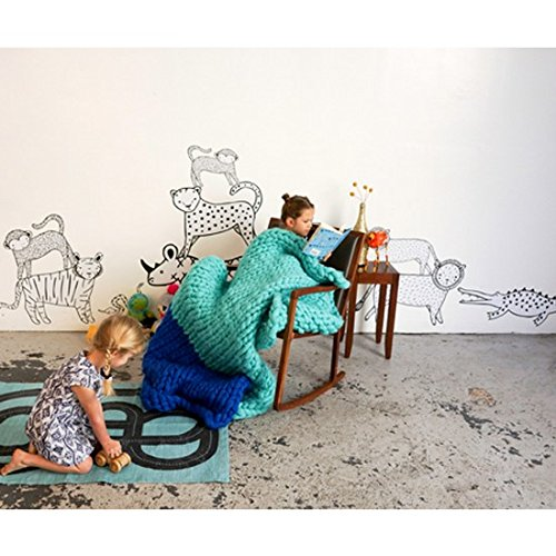Pop and Lolli Gingiber Zoo Animals Large Wall Sticker