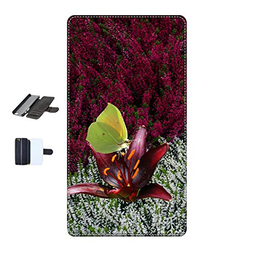 Housse Iphone 5c - Papillon Citron Cléopatre fleurs