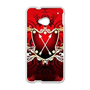Festival Red Badge Custom Protective Hard Phone Cae For HTC One M7