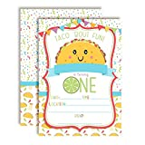 Taco 'Bout Fun Taco Themed First Birthday Fiesta Party Invitations, 20 5''x7'' Fill in Cards with Twenty White Envelopes by AmandaCreation