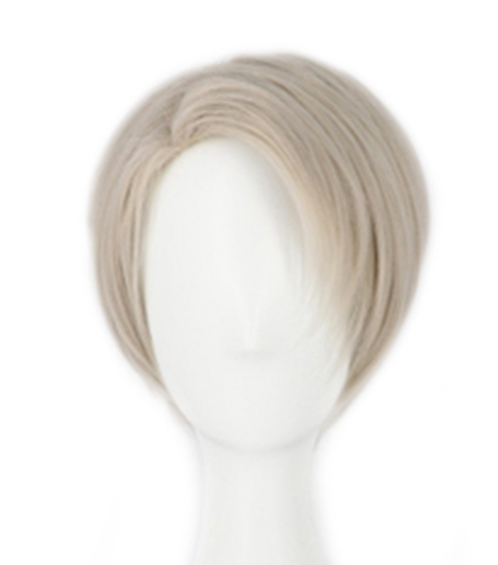 ECOS Yuri Ice Victor Wig Short Hair Deluxe Cosplay Costume Teens Adult Accessory Prop