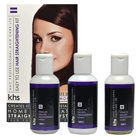 Sistema de tratamiento de alisado del cabello con queratina: Amazon.es: Belleza