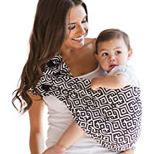 HOTSLINGS Adjustable Pouch Baby Carrier Sling, Large, Black, White