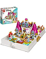 LEGO 43193 Disney Princess Ariel, Belle, Cinderella and Tiana's Storybook Adventures Castle Toy for Kids with 4 Micro Dolls Figures