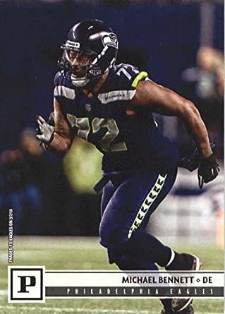 newest 4cda0 66f95 Amazon.com: 2018 Panini NFL Football #242 Michael Bennett ...
